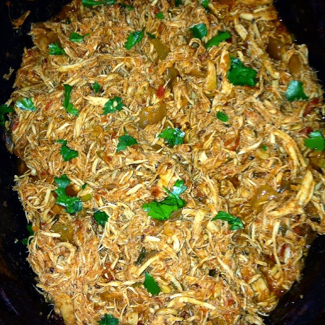 crock pot texmex pulled chicken